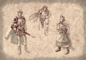 Warm up concept art - Knights! by DrManhattan-VA