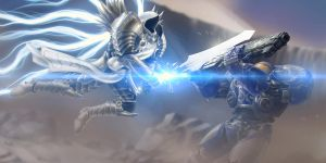 Heroes of The Storm - Tyrael VS Tychus by Giepie