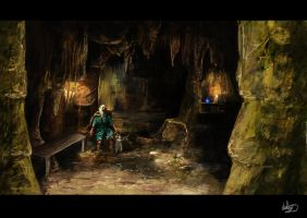 Merlins Cave INT by Chestbearman