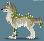 Mushroom canine adoptable #4 - CLOSED by ShadeDreams