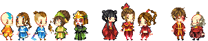 Avatar: the Last Airbender Baby Sprites! by Ichitoko