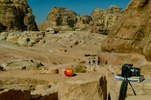 Apple and Canon in Petra by mkinanc