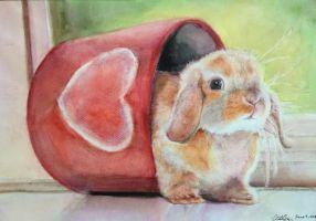 Water Colour Bunny by MagicFlyingBunnies