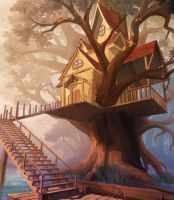 Treehouse by the lake by LZbrothers