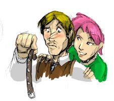 Tonks and Lupin by Erikonil