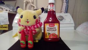 Pikachu And His Ketchup by Bluedragon85