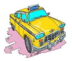 Checker cab New York by Roberto67
