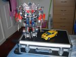 Car Bumblee Bee with Optimus by ElectroniaPrime