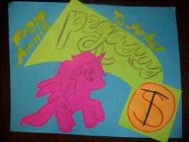 Pink Alicorn with Cupcake Cutie Mark by InsanePaintStripes