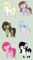 Pony adoptables *OPEN* STILL 2 AVAILABLE by ElleZevi