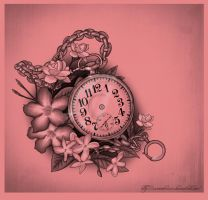 Pocket watch and flowers by XxMortanixX