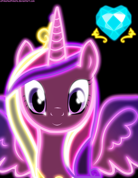 Neon Princess Cadence by ZantyARZ