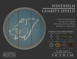 Skyrim - Shield of Windhelm Replica Paper Model by RocketmanTan