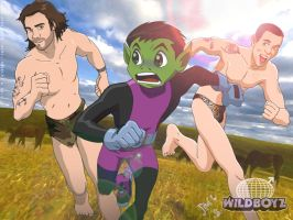 Beast Boy meets the WildBoyz by jodi-seer
