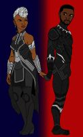 Storm and Black Panther: Across the Universe by tapwater86