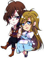 CHIBI::Huntsman and Wife by chisacha