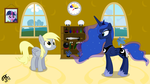 Derpy meets Luna in her new house by TBCroco
