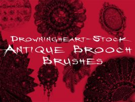 antique brooch brushes by drowningheart-stock