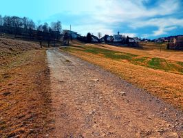 Trail to the village center by patrickjobst