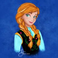 Anna (Frozen) by tiannangel