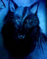 The Blue Wolf by ghost13warrior