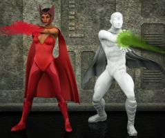 Vision and Scarlet by hiram67