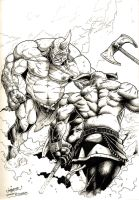 Cyclops VS Minotaur by theoggster