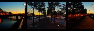 Liffey Dusk Triptych by superflyninja