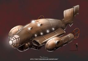Steampunk ship by davi-escorsin