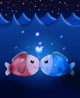 Love Fish by Citronade-Arts