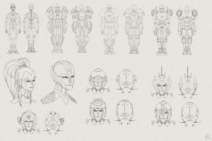 Cybertronian Concept sketches by EastCoastCanuck