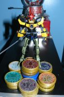 New Gundam Rider OOO tatoba! 2 by nikinaga