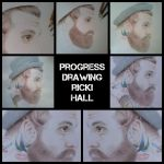 Progress drawing Ricki Hall by Tropical-Rain