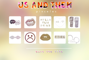 us and them |brushes by Burn-the-life