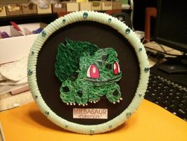 BULBASAUR POKEMON QUILLING AND 3D ORIGAMI. by esmeraldaarribas
