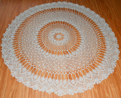 55in crocheted tablecloth by Yak-Blithering