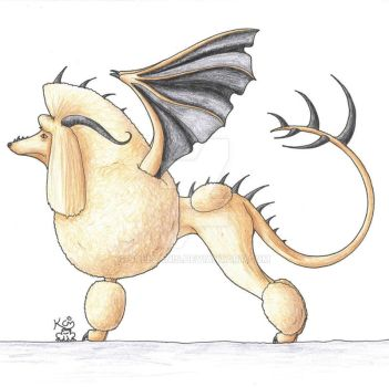 Poodle Dragon by Scellanis