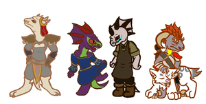 Hero's of Tamriel by Ded-Fire-Dragon