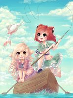 fishing day by Marmaladecookie