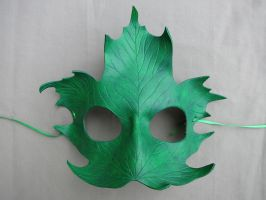Maple Leaf Leather Mask - Verdant by A-S-Thompson