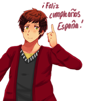 [APH] - Spain - Happy Birthday! by Shiunee