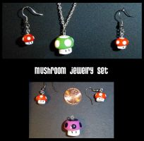 Mario Mushroom Jewelry by YellerCrakka
