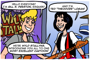 Bill & Ted's Excellent Cartoon by theEyZmaster