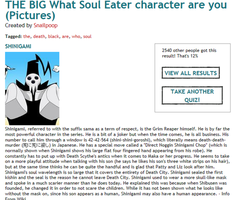 What soul Eater haracter am I ? by Tinkerbell0522