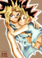 yami yugi x yugi muto colored by eternalscat