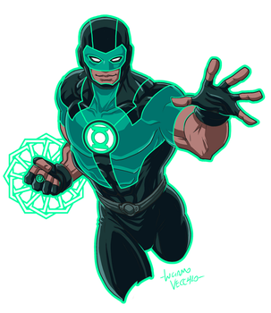 Green Lantern Simon Baz Rebirth by LucianoVecchio