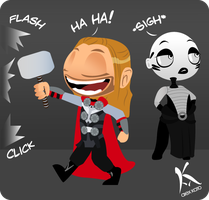Thor and Asajj by AxKato