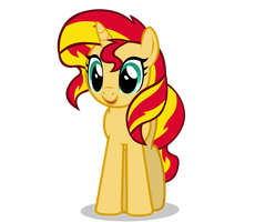 Sunset Shimmer Smile Vector by SapphireSkies24