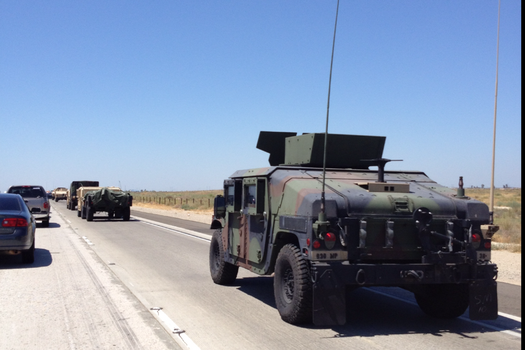 Military Convoy on the I-5 North by Ghost141