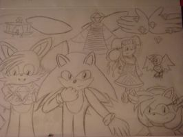Sonic Adventure :Outlines: by Open-your-Heart